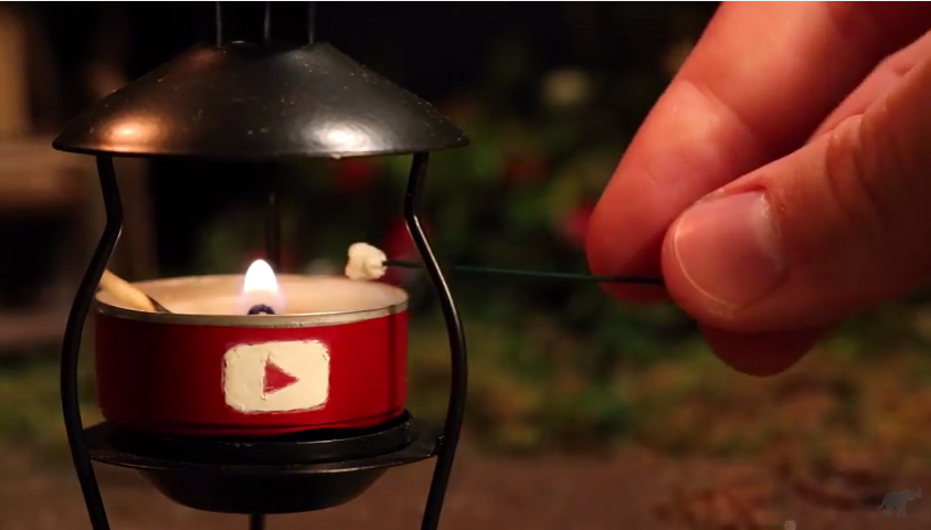 Making Miniature S'mores On A Miniature Camping Trip…