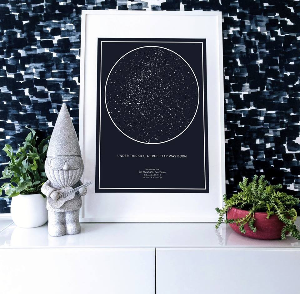 Get A Star Map Print From A Special Night You Want To Remember