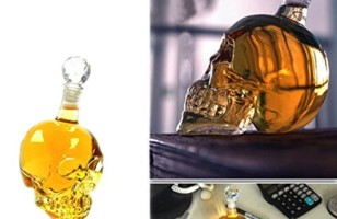 Barware Gift: The Transparent Crystal Skull Decanter