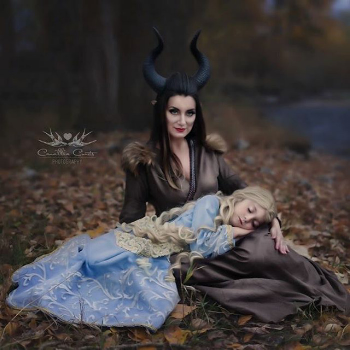 Better than the Original Disney Character Cosplay by Mom and Daughter