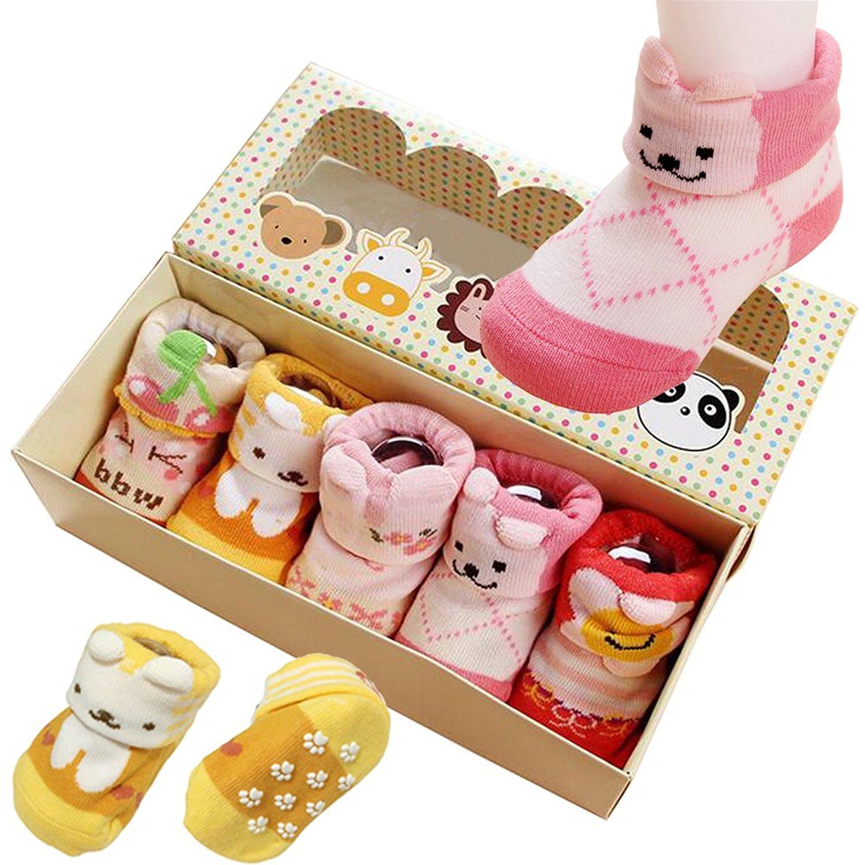 Adorable Baby Boys Girls Toddler Animal Cotton Anti Non-Skid Slip Crew Socks