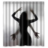 Funny Sexy Woman and Men Sex Silhouette Shadow Bathroom Shower Curtain