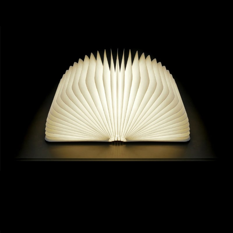 A multi-functional portable lamp hidden in a hard-cover book
