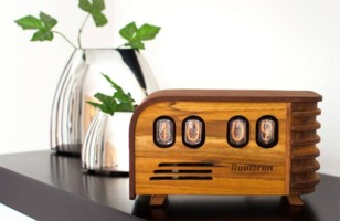 Handcrafted Art Deco Desk Clock – The Vintage Nixie Tube Clock