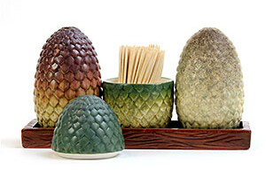 Dragon Egg Salt & Pepper Shakers: Game of Thrones