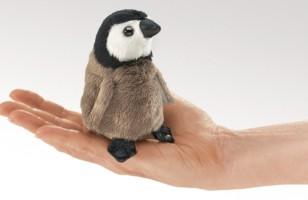 Penguin Baby Finger Puppet Folkmanis Mini Emperor