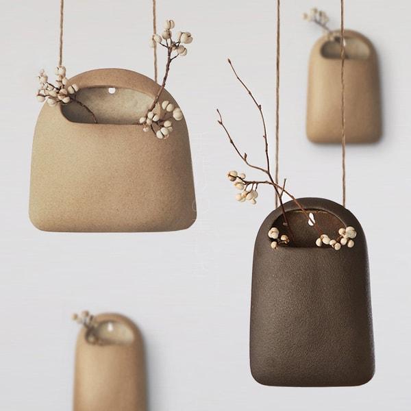 Elegant Japanese style pocket hanging vases