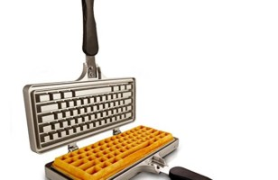 Ctrl + Alt + Delicious: Keyboard Shaped Waffle Iron