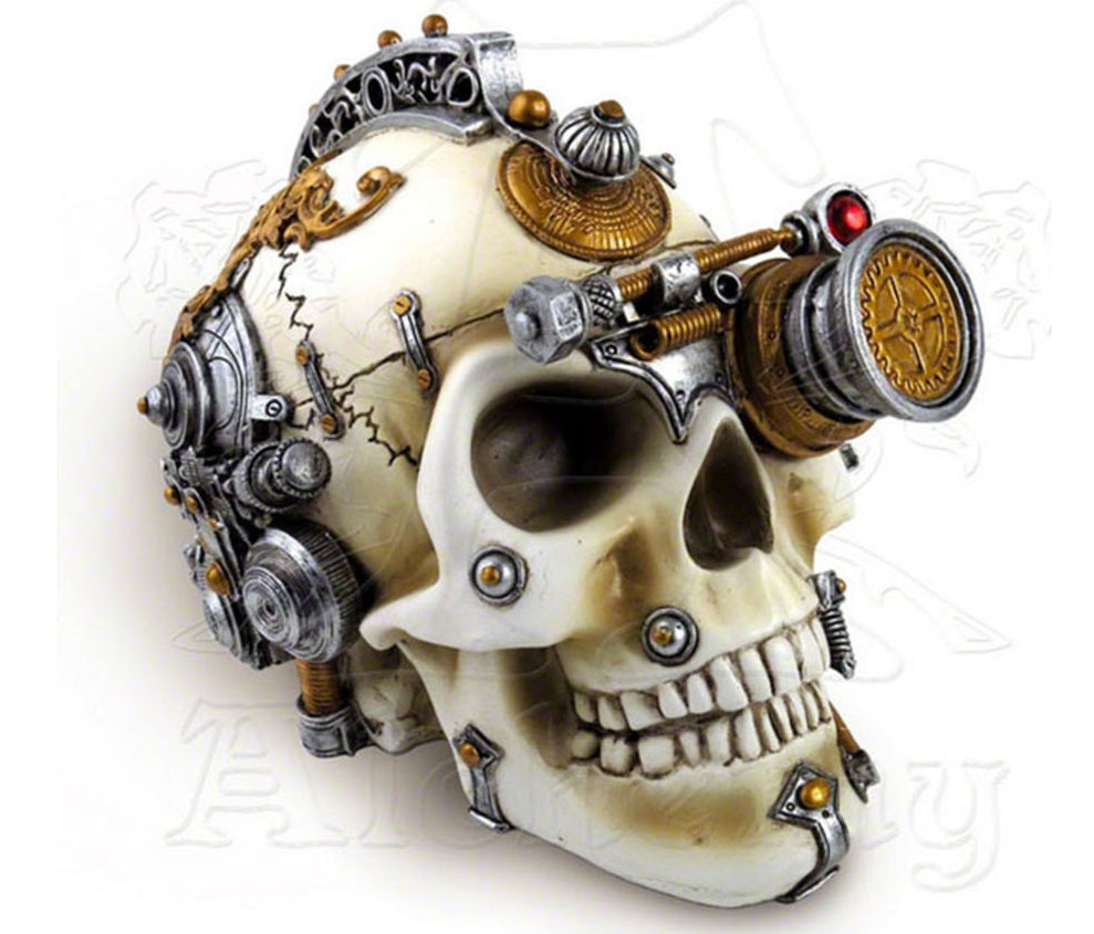 Decorative Skull with Hidden Compartment