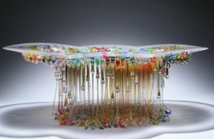 Amazing Dripping Glass Table – Jellyfish Sculptures
