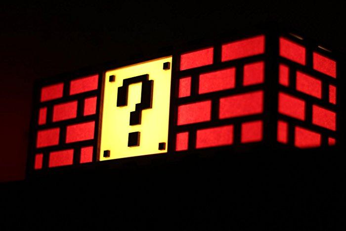 Mario Question Mark Brick Lamp