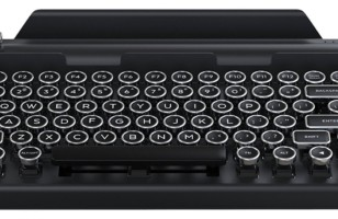 Qwerkywriter Typewriter: The Vintage Inspired Round Keycaps Wireless Typewriter
