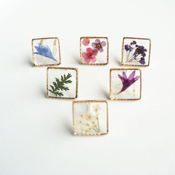 Floral Fashion Jewelry - Picture Frame Earring