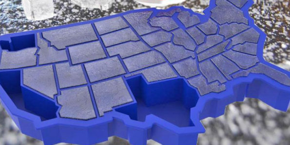 United States of America Ice Cube Tray