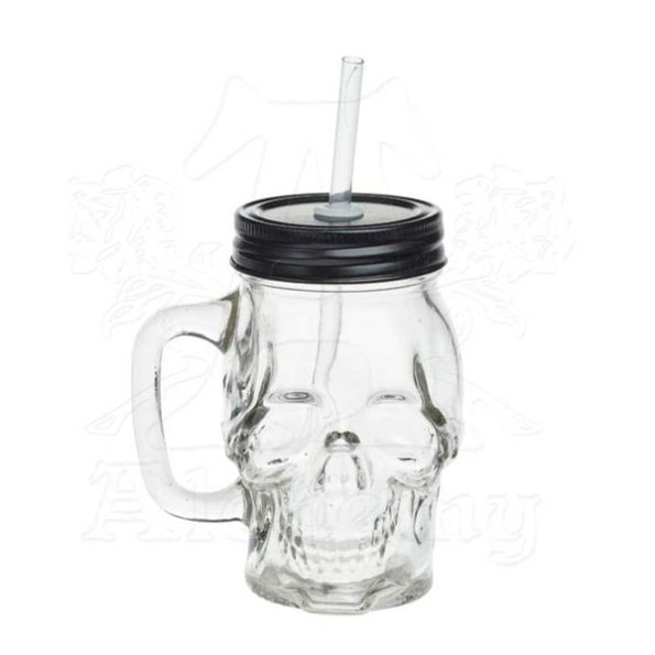 Do You Love Skulls? Glass Skull Drinking Jar