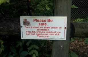 Most Funny Zoo Warning Signs With Some Extraordinary Stories