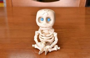 Resin Skeleton Doll with LED Eyes