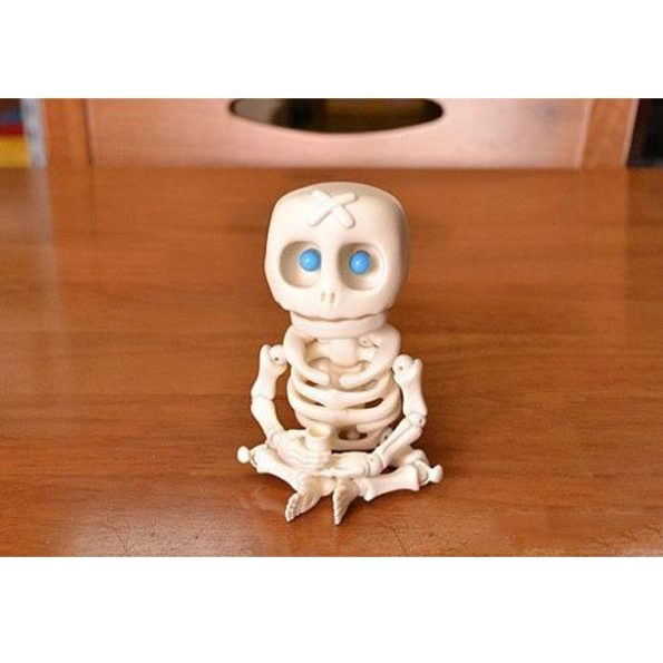Resin Skeleton Doll with LED Eyes