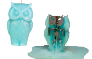 Angry Owl Shaped Candles for Halloween