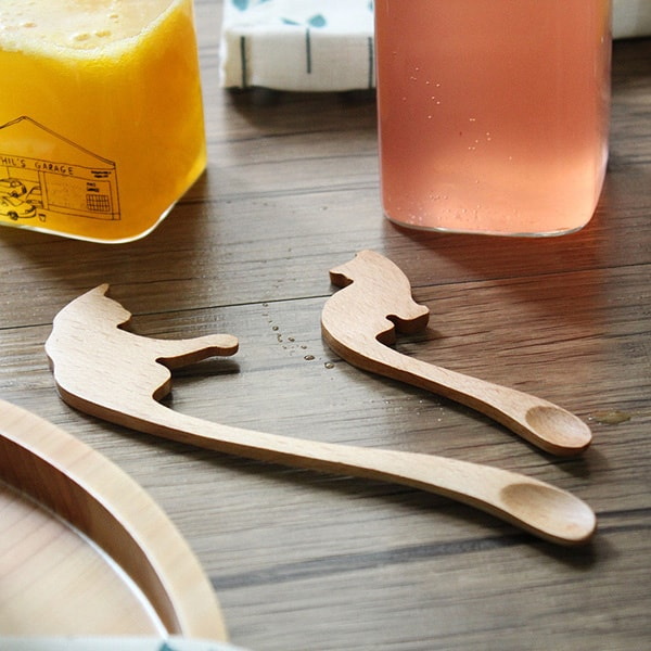 Kitty Stir Stick – Wooden Spoon