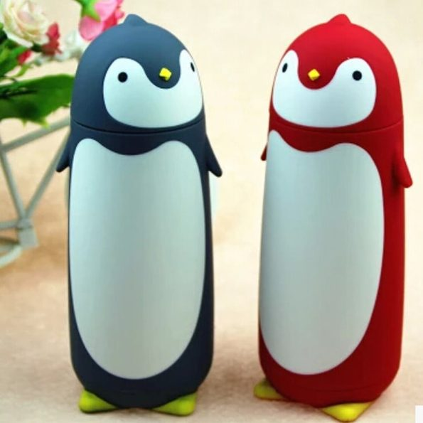 Pretty Penguins Water Bottles in Vivid Colors