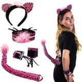 Sexy Halloween Pink Panther Costumes for Women