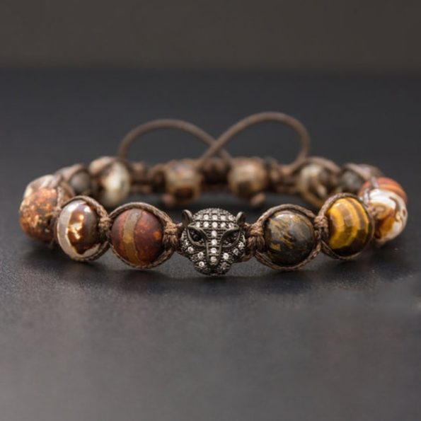 Halloween Special : Shamballa Beaded Bracelet The Tigers Eye