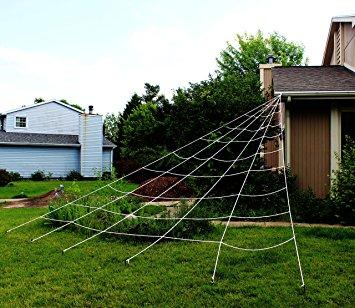 Halloween Decoration: Triangular Outdoor Mega Spider Web
