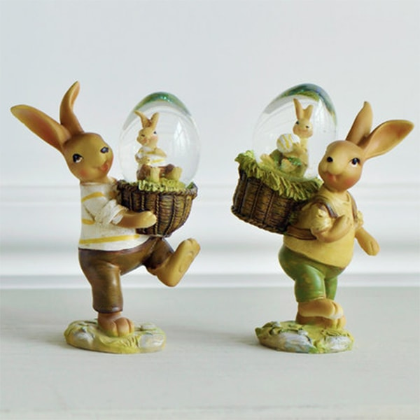 Adorable Bunny Rabbit Statues for Gardens