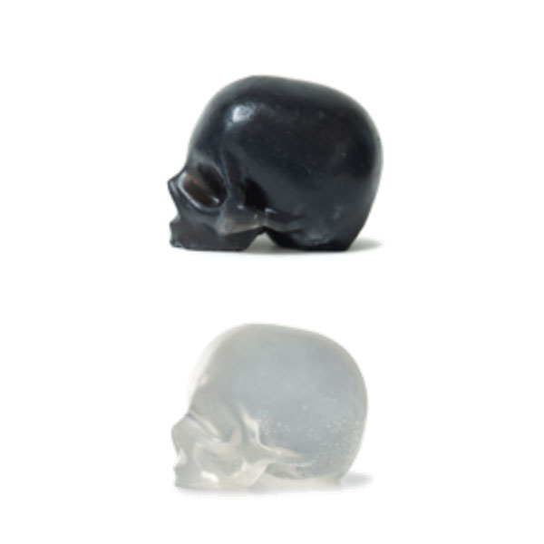 Black Activated Charcoal & Clear Glycerin Skull Soaps
