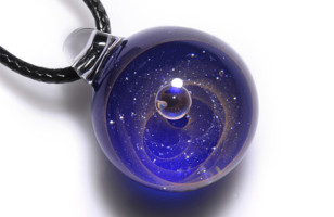 Celestial Glass Artistry – Cosmic Pendant