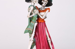 Skeleton Couple Dancing in  a Sexy Style