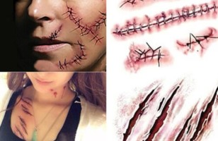 Halloween Horror Realistic Waterproof Temporary Tattoo Sticker