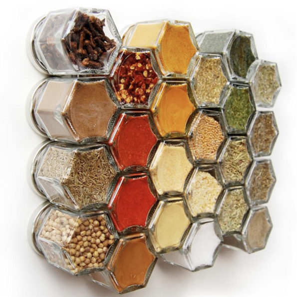 Small and Handy Hexagon Spice Jars