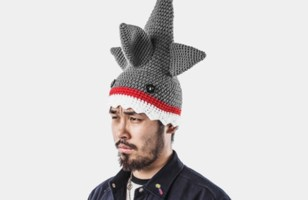 Novelty Knitted Shark Attack Hat