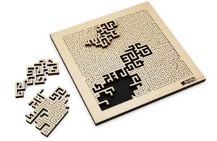 Fractal Fantasy Right Angle Geometry of Aztec Art Puzzle
