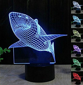 Illusion of Shark Table Desk Lamp