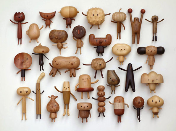 Adorable Quirky Wooden Toy Characters