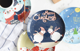 Festive Dinnerware Collection: Christmas Plates