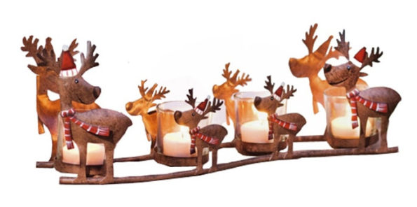 Vintage Holiday Decorating Reindeer Candle Holder