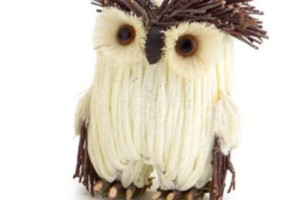 Woodland Owl Christmas Ornament With Raised Eyebrows