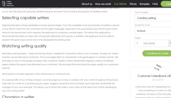 Essay writer helper