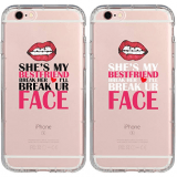 iPhone7/8 Couple Cases With Whacky Quotes for your BFF/GF in Halloween!