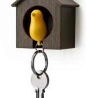 Birdhouse Keychain