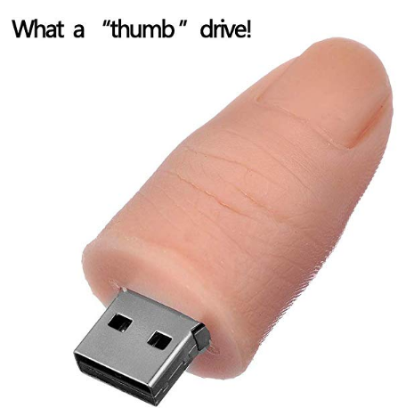 OMG! Gosh, Seriously??! Thumb Flash Drive