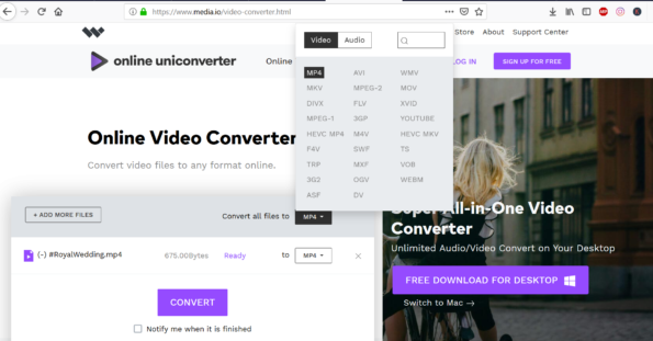 How to Convert MKV video formats to MP4 video formats