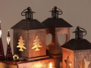 House Pattern Candle Holders: Vintage Style Lantern