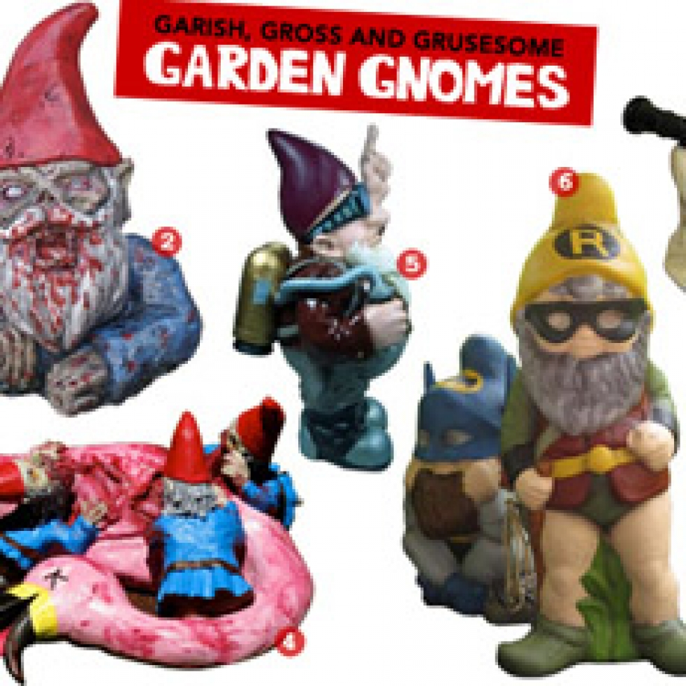 Garish, Gross and Gruesome Garden Gnomes