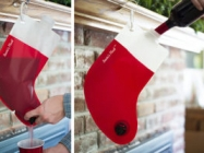Santa's Flask: A Plastic Stocking To Fill With Your Favorite Hooch
