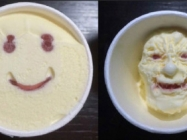 This Smiley Face Japanese Ice Cream Melts To Look Freaky AF